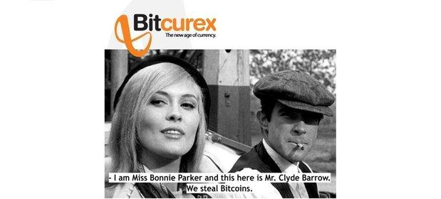 Slajd Bitcurex promujący handel bitcoinami ze stycznia 2014 roku.