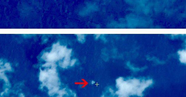 Chińskie zdjęcie satelitarne pokazujące obiekt,</br>który mógł być resztkami wraku zaginionego Boeinga