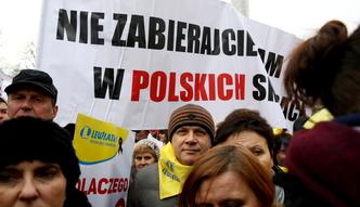Manifestacja kupc�w pod Sejmem. Pierwszy taki wyraz oburzenia w historii