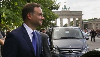 """Wizyta Andrzeja Dudy w Niemczech. """"Najistotniejsze by�y kwestie bezpiecze�stwa"""""""