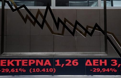 Gigantyczne spadki na gie�dzie w Atenach. Akcje trac� po 30 procent