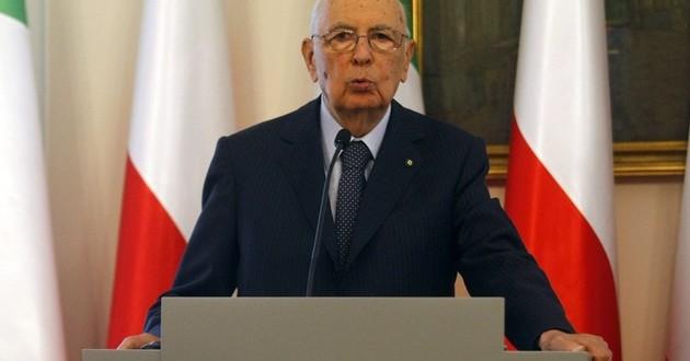 Na zdj. Giorgio Napolitano
