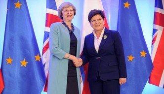 Theresa May w Polsce. Szyd�o: Polska nie b�dzie naciska� na Wielk� Brytani�