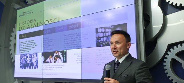 Rafał Bauer, prezes Próchnika.