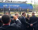 """Wiadomo�ci: Poci�g towarowy """"China Railway Express"""" przyjecha� do Warszawy"""