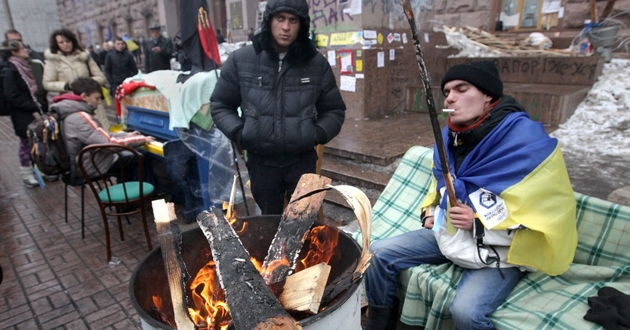 Aktywiści na Majdanie