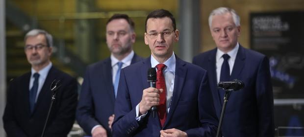 Mateusz Morawiecki podczas powołania Rady ds. Innowacyjności, 11 stycznia, Warszawa
