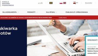 Nowa strona internetowa KNF. Urzędnicy postawili na bezpieczeństwo klientów