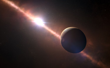 Po first measured the length of the planet pozasłonecznej