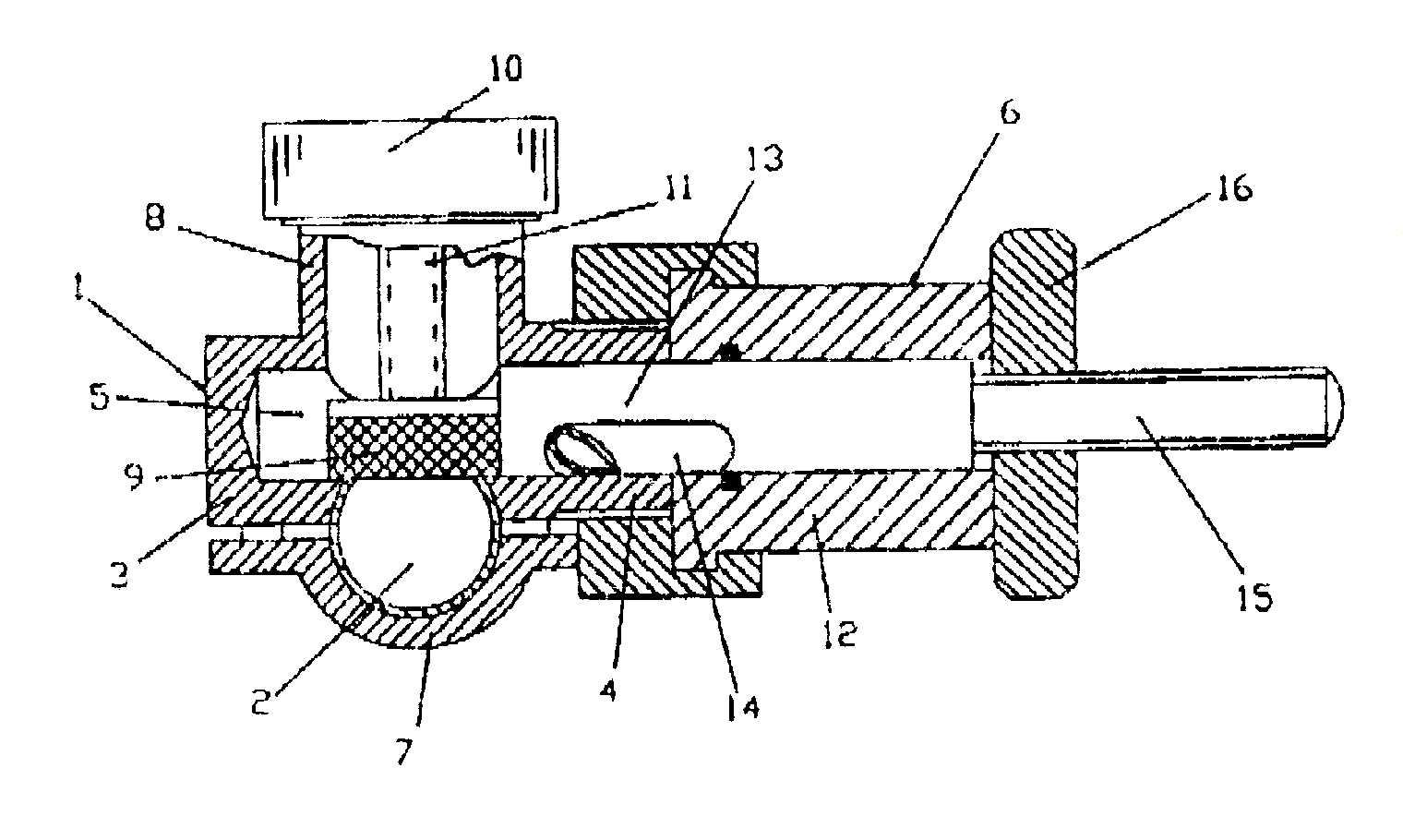 Zawór do podłączania przewodów rozgałęźnych do istniejącego przewodu wypełnionego gazem albo płynem