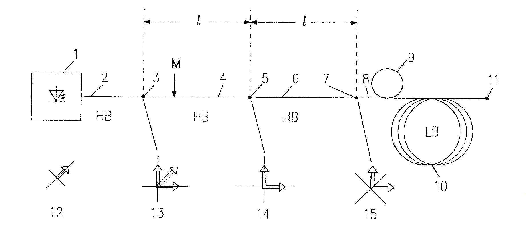 Układ światłowodowy polarymetrycznego czujnika prądu