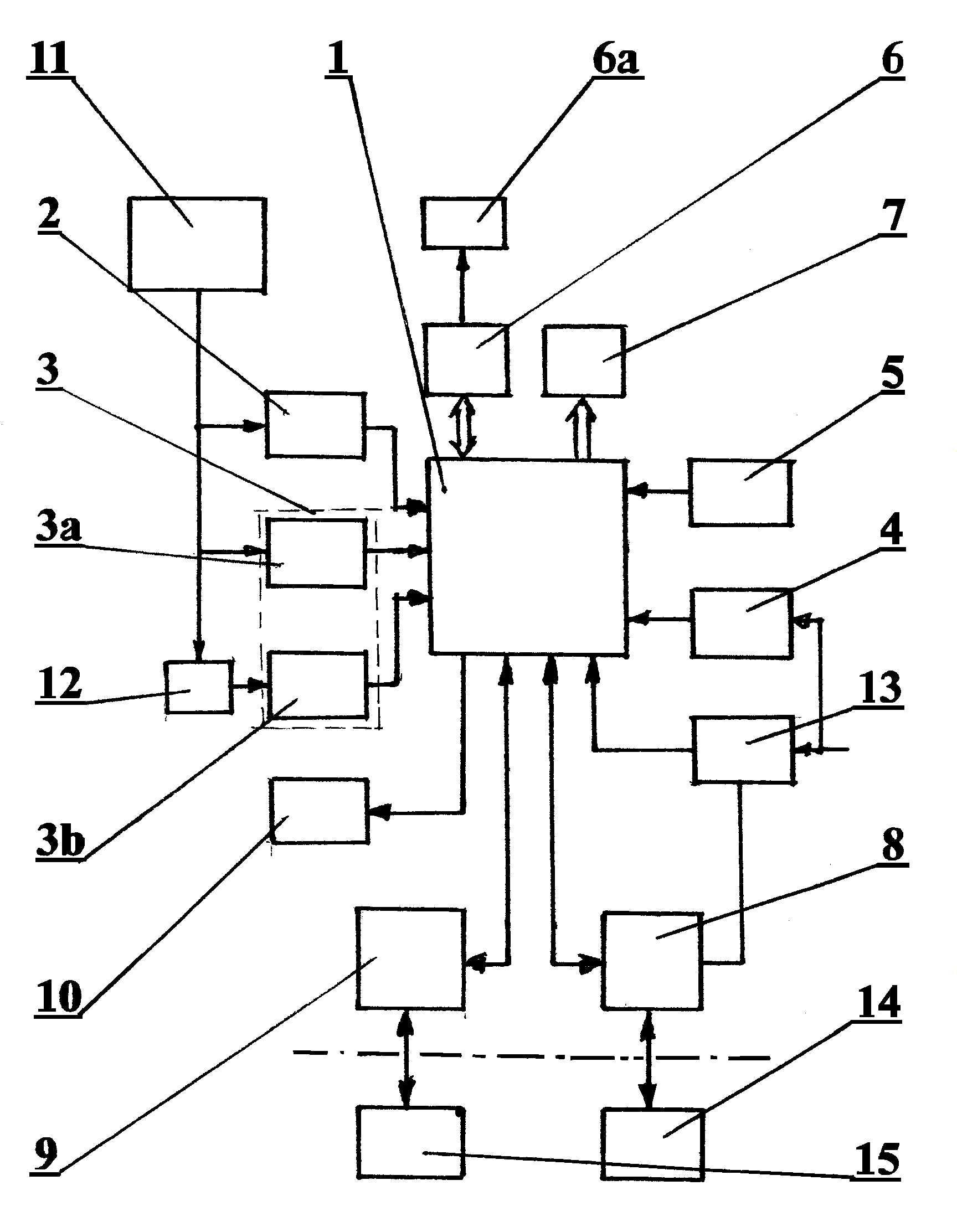 Układ przyrządu do nadzoru i pomiaru stanu sieci energetycznych z izolowanym punktem zerowym