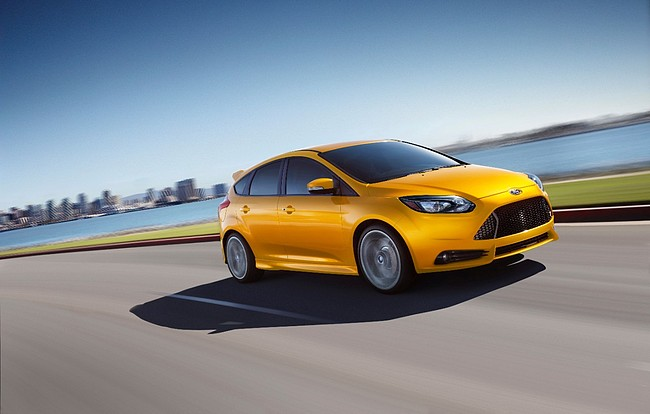 Ford jeszcze nie zdradził jak będzie wyglądał nowy Focus RS. Na zdjęciu wersja ST - nieco słabsza i mniej agresywna stylistycznie