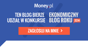 Ekonomiczny blog roku 2014 obrazek informujący o uczestnictwie w konkursie