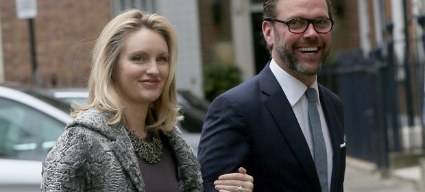 James Murdoch z żoną Kathryn Hufschmid