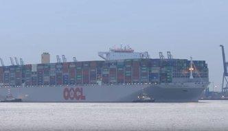 Największy kontenerowiec na świecie pojawi się w Gdańsku. Mieści 21 tys. ładunków