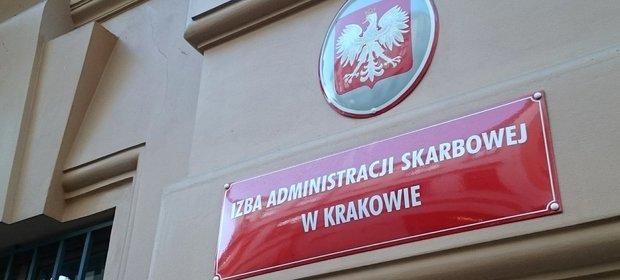 Izba Administracji Skarbowej w Krakowie przy ul. Wiślnej 7.