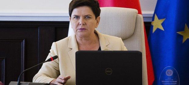 24.08.2017, Warszawa. Beata Szydło w czasie posiedzenia rządu. Premier zapewniła, że projekt budżetu 2018 r. przewiduje pełne finansowanie programu 500+