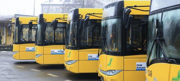 Na zdjęciu autobusy Solaris Urbino 12 wyprodukowane dla Katowic