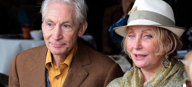 Shirley Watts razem z mężem parkusistą The Rolling Stones