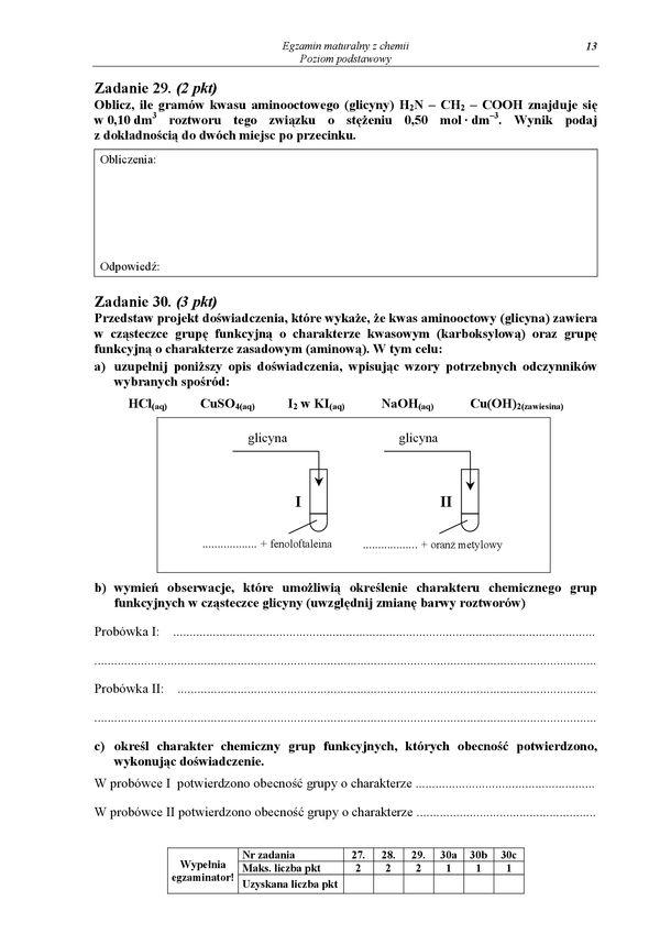 matura chemia styczen 2009
