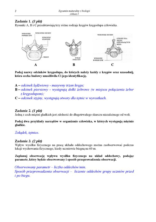 matura biologia styczeń 2006