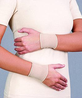 Opaska elastyczna stawu nadgarstkowego, krótka - dziana