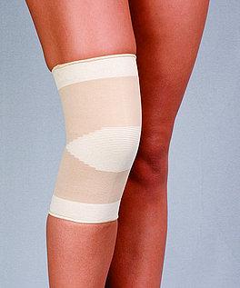 Opaska stawu kolanowego przeciwreumatyczna, dziana - z bursztynem