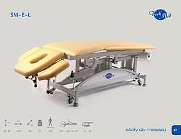 SM-E-Ł Łamany stół do masażu z elektryczną regulacją wysokości