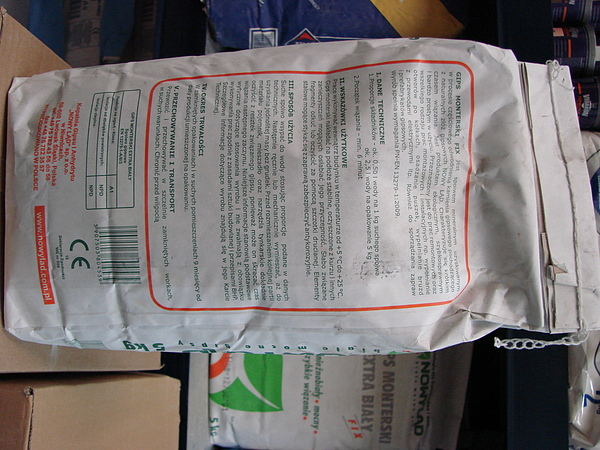 Gips monterski FIX extra biały 5 kg