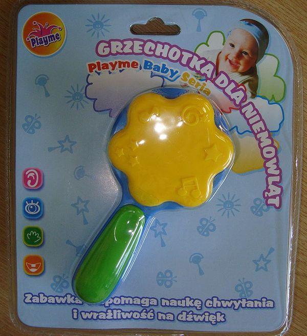 zabawka - grzechotka dla niemowląt