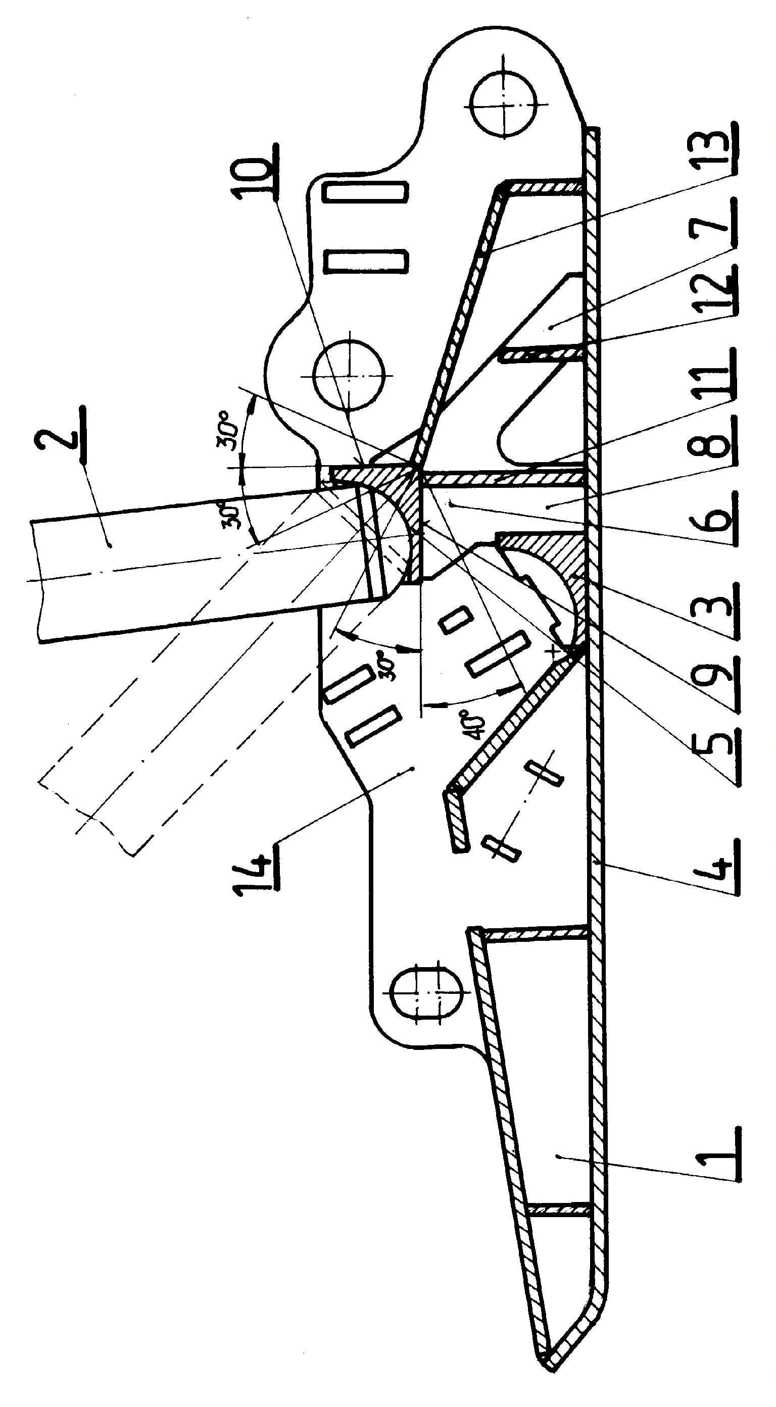 Spągnica górniczej zmechanizowanej obudowy ścianowej