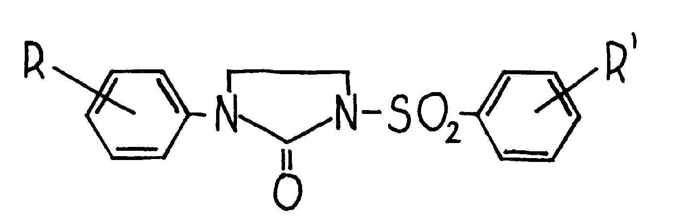 Sposób otrzymywania nowych pochodnych 1-arylo-3-arylosulfonyloimidazolidyno-2-onów