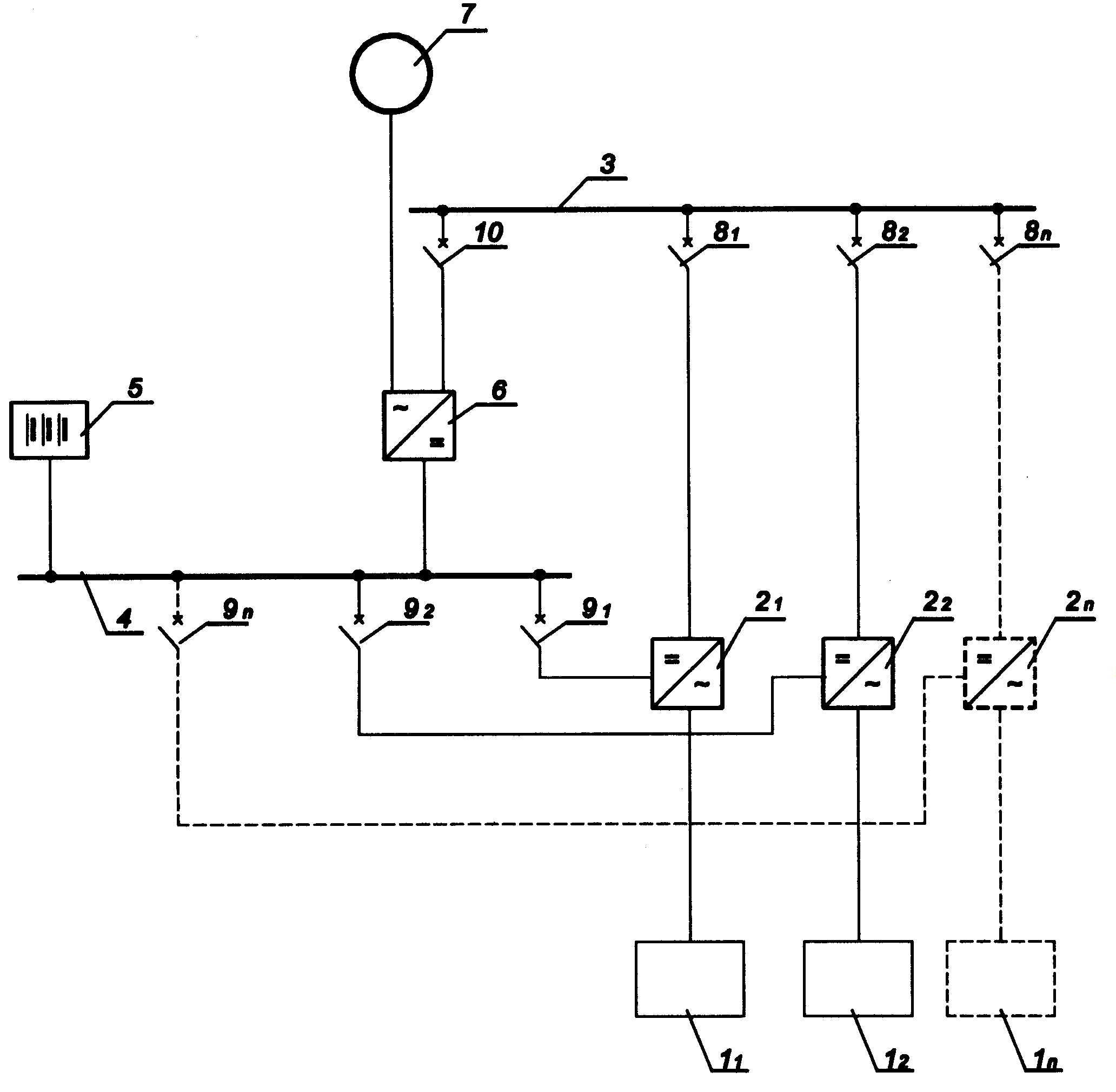 Urządzenie zabezpieczające przed awaryjnym zanikiem napięcia zasilającego przemiennego u odbiorców