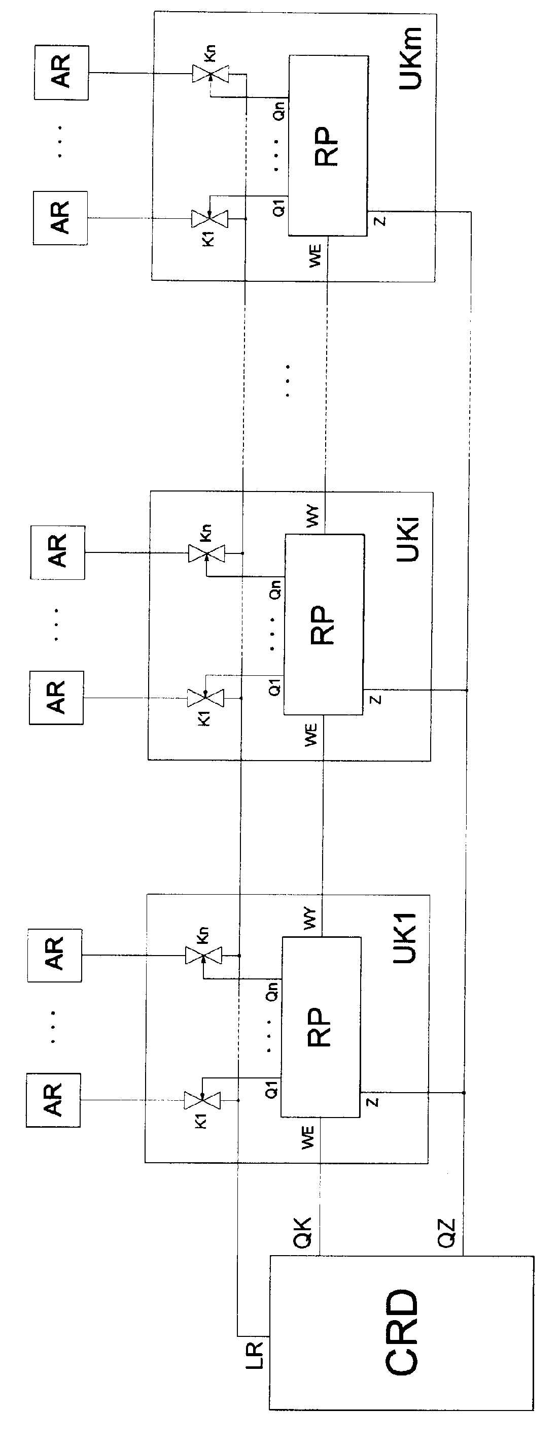 Układ domofonu cyfrowego z łącznością wewnętrzną