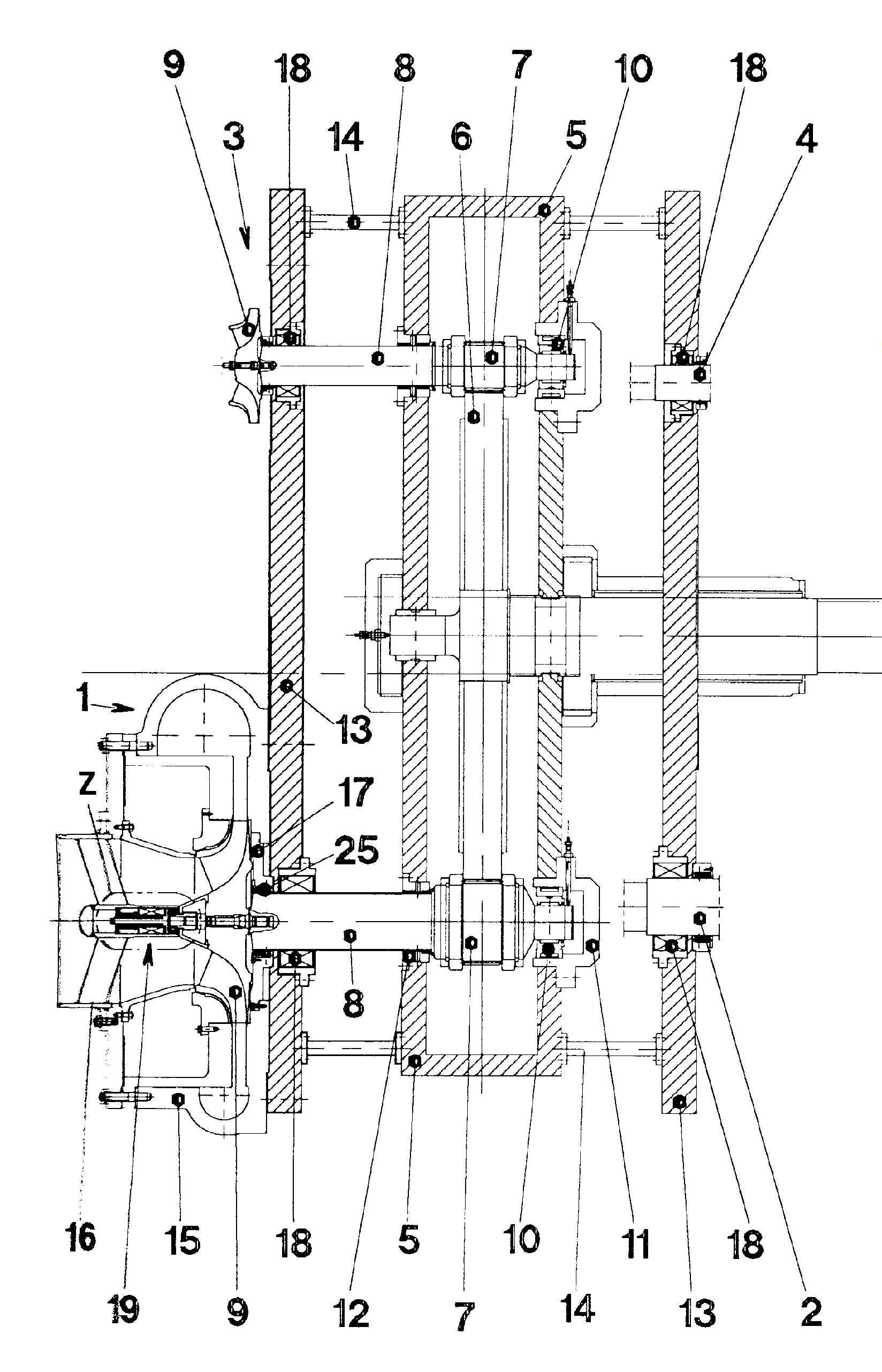 Sprężarka przekładniowa do sprężania tlenu