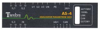 Płyta czołowa analizatora parametrów sieci